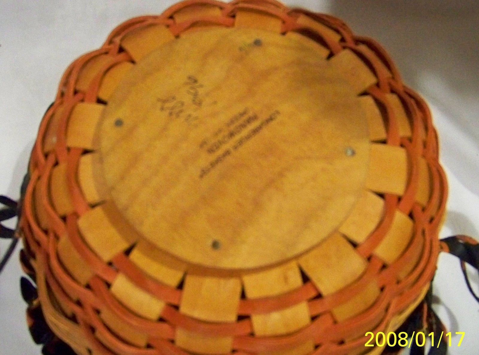 Longaberger 1996 Small Pumpkin Basket Combination