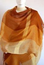 Weaved shawl,scarf mix of Babyalpaca wool and Silk - $89.00