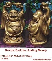 Happy Buddha Holding Money - $53.96