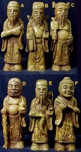 Stone Temple Wisemen Statues - Each one different - One Only of Each! - $116.96
