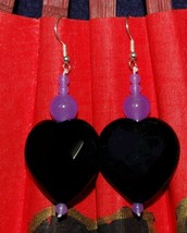 Beautiful Midnight Blue Faceted Stones Earrings - $35.96