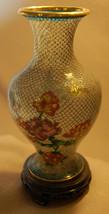 Cloisonne Vase w/wood stand - $62.96