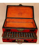 Wood Jewelry box Abacus with drawer - $89.96