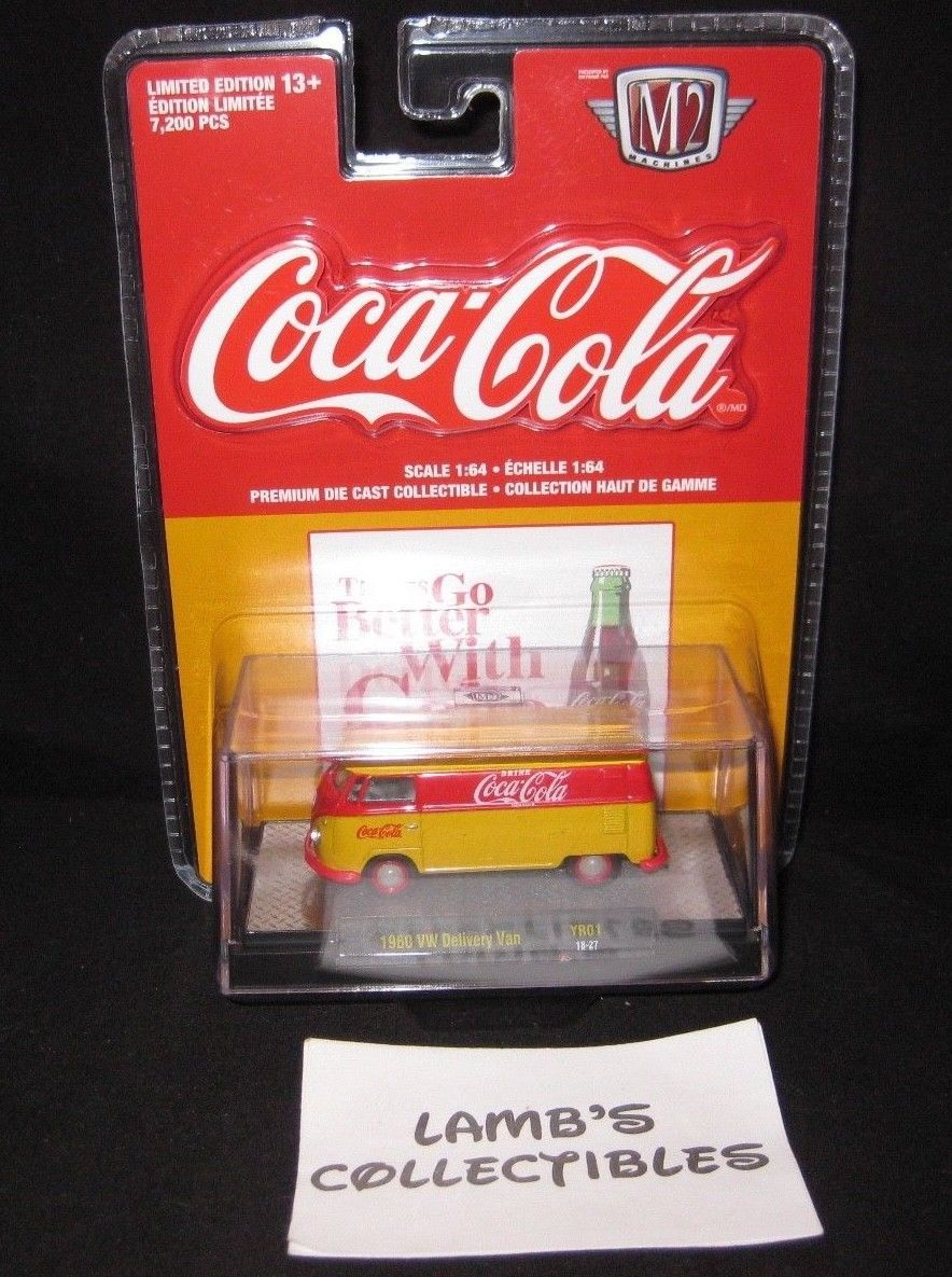Primary image for M2 Machines Coca-Cola 1960 VW Delivery Van YR01 18-27 premium die cast car toy