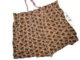 CALVIN KLEIN JEANS Womens print SHORTS brown TAN  Size 6 - $21.84