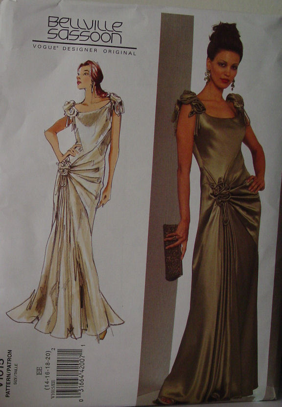 Vogue Designer Pattern 1015 Evening Gown sz 14-20 UNCUT