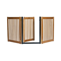Dynamic Accents Walk Through 3 Panel Free Standing Pet Gate - Mahogany 9... - $269.00