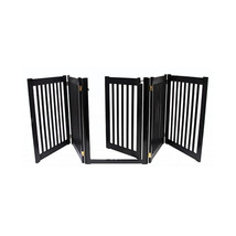 Dynamic Accents Walk Through 5 Panel Free Standing Pet Gate - Black 961-... - $329.00