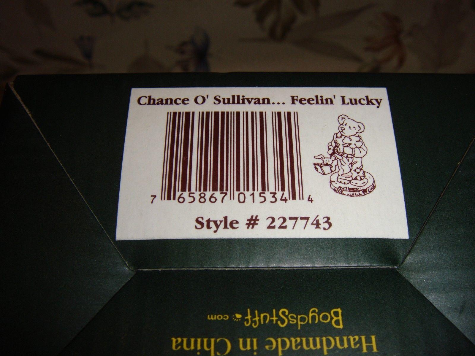 Boyds Bearstone Chance O'Sullivan... Feelin' Lucky