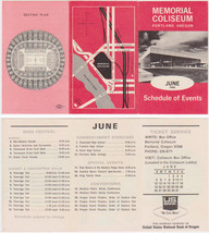 Paul Revere and the Raiders Concert Flyer Portland Memorial Coliseum 1966 - $30.00
