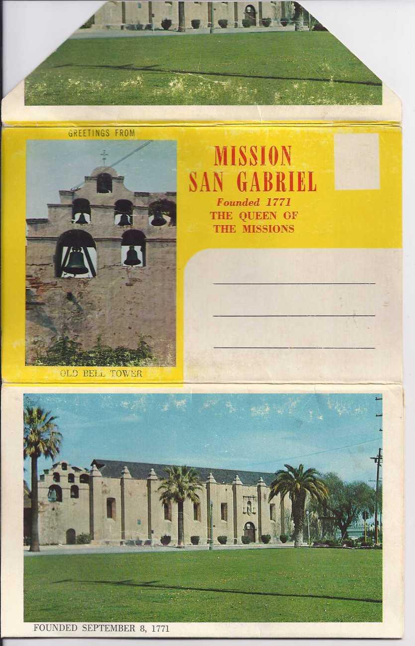 Postcards mission san gabriel