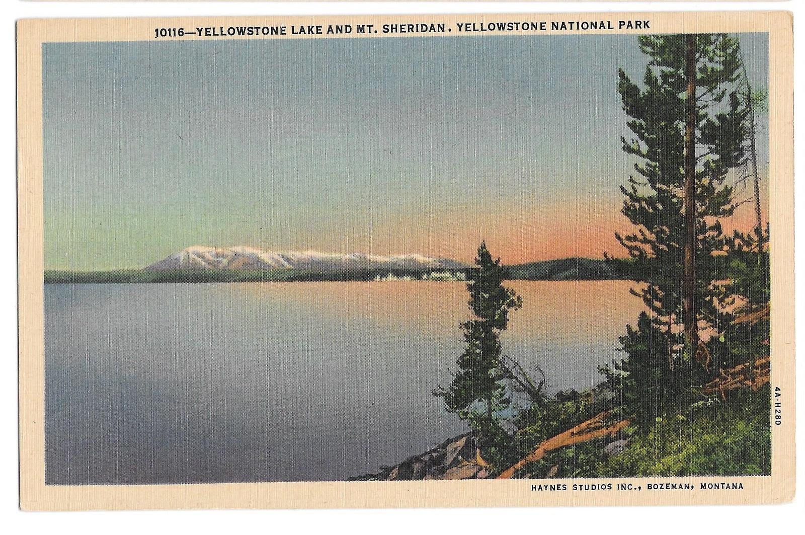 99 br 1925 1bx yellowstone lake mount sheridan haynes studios inc 2