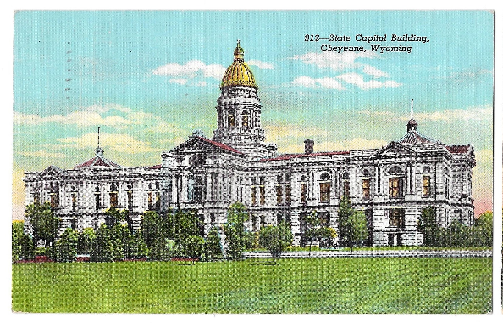99 br 1925 1bx wy cheyenne state capitol used 1942
