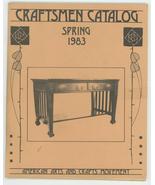 Craftsmen Catalog Spring 1983 Williams auction Arts Crafts furniture ant... - $17.00