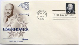 August 6, 1970 First Day of Issue, Fleetwood Cover, Eisenhower #2 - $1.93