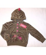 NWT Gymboree Olive Velour Jacket Hoodie, Peruvian Doll, 4 - $11.99