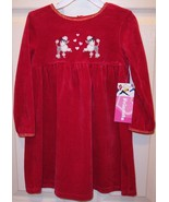 NWT Just Friends Girl's LS Red Velour Sparkly P... - $17.99