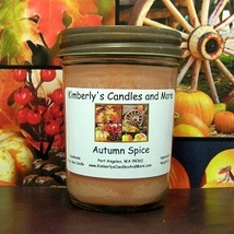 Autumn Spice PURE SOY Jelly Jar Candle - $8.00