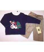 NWT Good Lad Boys 3 Pc Snowman Holiday Sweater Set, 18M - $15.99