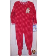 NWT Carter's Girl's Red Polka Dotted Fleece Gin... - $15.99