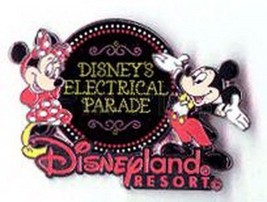 Electrical Parade Mickey & Minnie Authentic DLR  Disney pin - $24.18