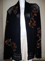 Embroidery huge shawl,cape with pure Alpaca wool - $191.00