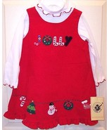 NWT Good Lad Red Holiday Christmas Jumper Set, ... - $14.99