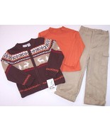 NWT b.t. kids Boy's 3 Pc. Reindeer Sweater Holiday Outfit Set, 5 or 6, $46 - $17.99