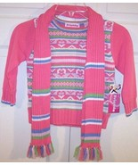 NWT Just Friends Girl's Pink Striped Sweater & ... - $16.99