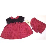 NWT Good Lad Girl's Black & Red Holiday Special Occasion Dress Set, 6-9M... - $16.99