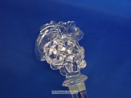 MIKASA Bottle Decanter STOPPER Lead Crystal Grapes Leaves image 2