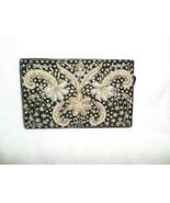 1930s-40s RAZIA ZARDOZI Clutch Handbag Purse 1 sided Metallic Thread Emb... - $130.00