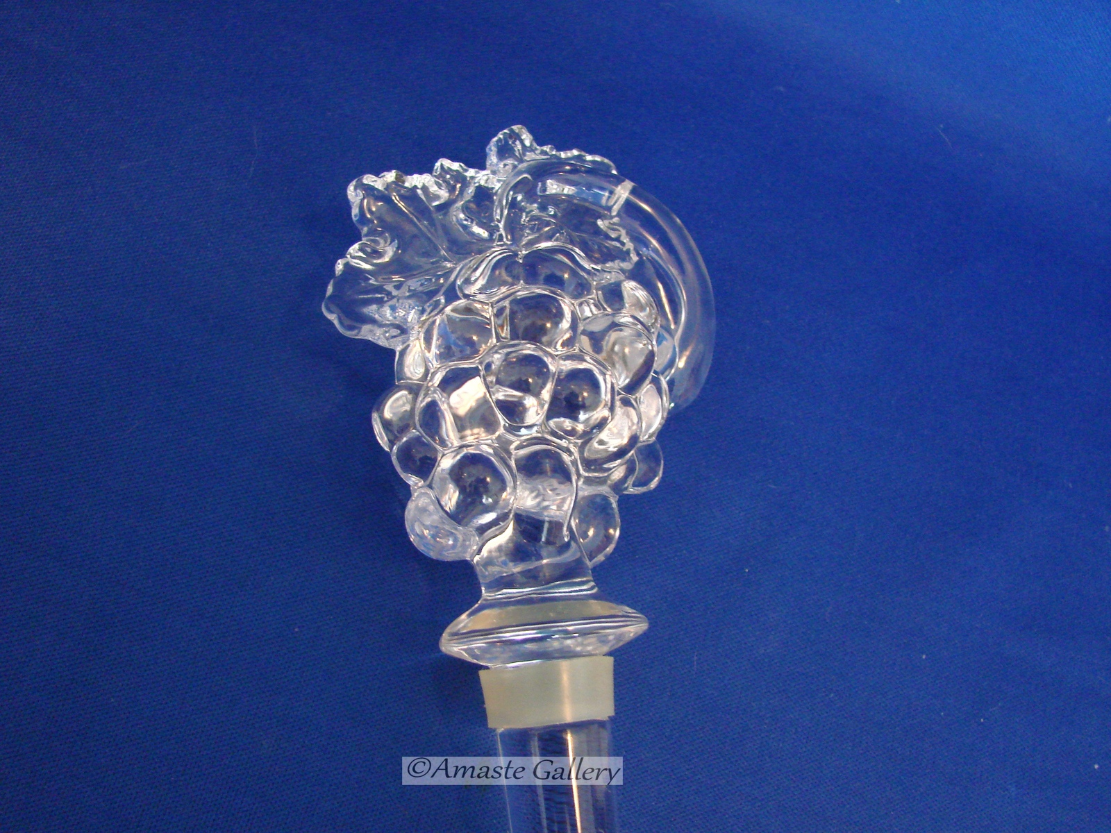 MIKASA Bottle Decanter STOPPER Lead Crystal Grapes Leaves image 3
