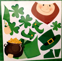 Lucky Irish LEPRECHAUN SHAMROCK PUZZLE MAGNET Refrigerator Car Door Deco... - $4.92