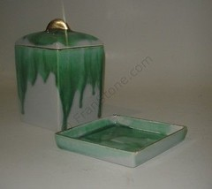 hope warren california pottery 1960's box and tray possibly a cigarette ... - $4.75