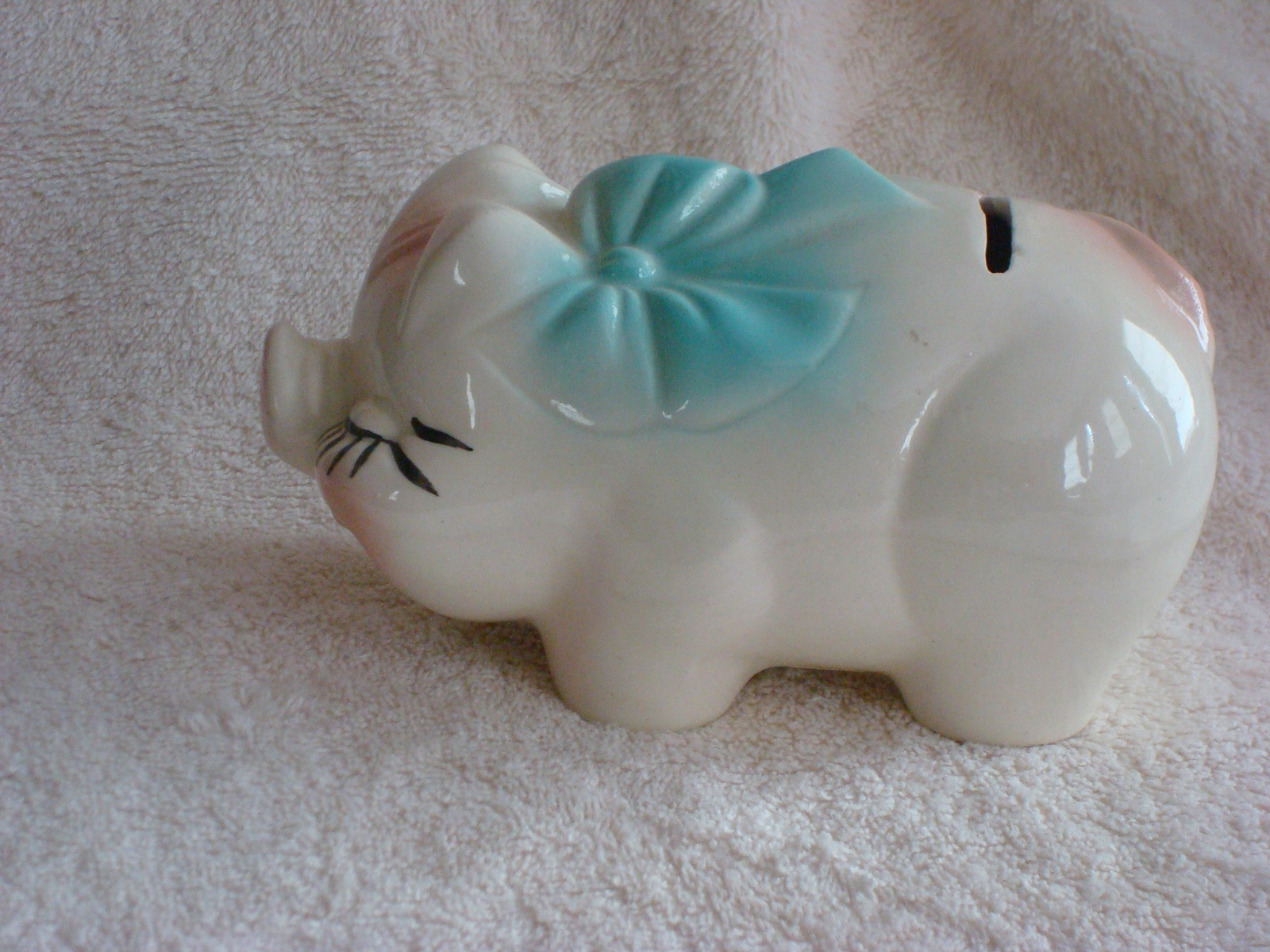 Small Ceramic Vintage Piggy Bank Pigs
