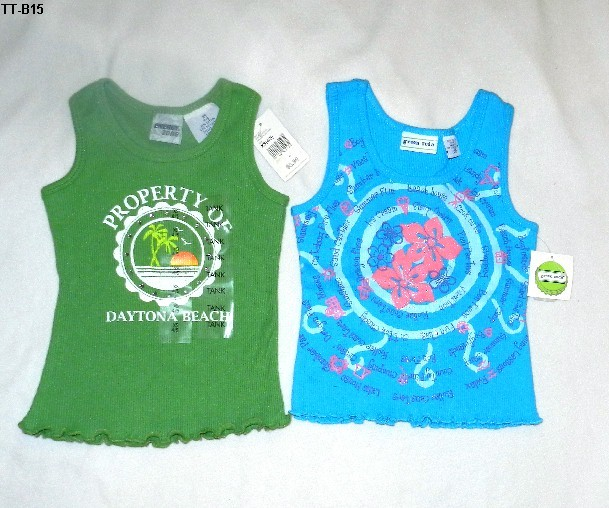 Two Size 4-5 Green Soda & Energy ZoneTank Tops NWT