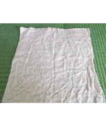Handkerchief in burnout print  in white - probably bridal - $12.00