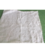 Handkerchief in burnout and embroidered print  in white - probably bridal - $12.00