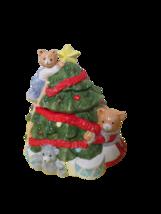 "OCI Omnibus Fitz & Floyd Hand Painted Christmas Tree Cookie Jar Bears 10""T - $22.72"