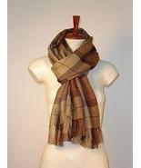Brown scarf,Babyalpaca wool,unisex shawl Accessory - $89.00