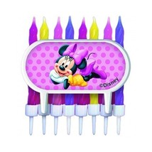 Minnie Mouse Cake Decoration with 8 Candles and Holders - $2.47