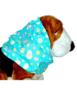 Dog Snood Robins Egg Blue Pink Yellow Easter Eggs Cotton Size XL - $13.50