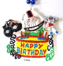 Happy Birthday Boy Blue Pendant Mardi Gras Necklace Beads Bead - $4.84 CAD