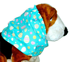 Dog Snood Robins Egg Blue Pink Yellow Easter Eggs Cotton Size Large - $12.50