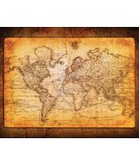 World Map Antique Vintage Old Style Decorative Educatiional Poster Print... - $13.99