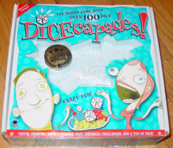 DICECAPADES DICE BOARD GAME 2011 HAYWIRE GROUP FACTORY SEALED PARTS COMP... - $20.00