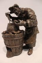 Beautiful Bronze Handcrafted Potato Man Worker Statue Figurine - $338.44