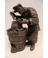 Beautiful Bronze Handcrafted Potato Man Worker Statue Figurine - $338.44