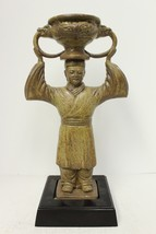 Beautiful Plaster Figurine on Stand Ready to be made into a Lamp - $86.89